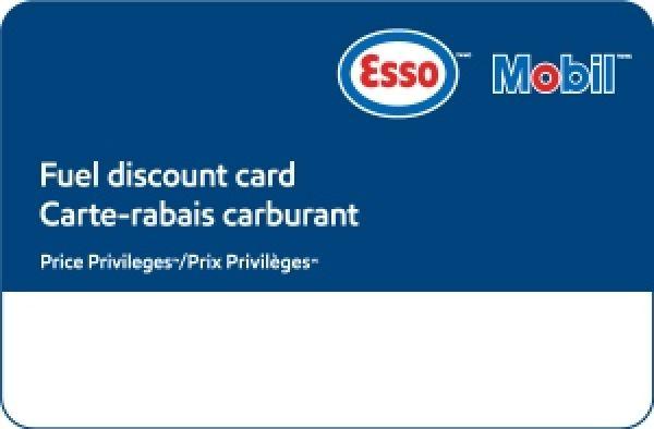 Carte de rabais sur le carburant Esso ™ PrixPrivilèges™ de 5$